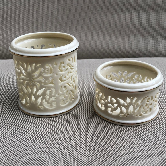 Lenox Other - Lenox Collections Pierced China Votive Set